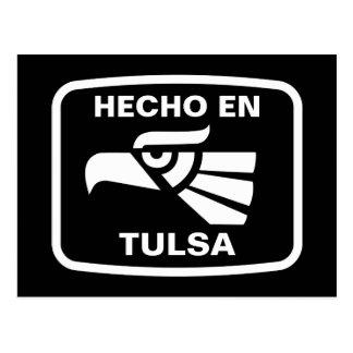 Hecho en Tulsa  personalizado custom personalized Postcard