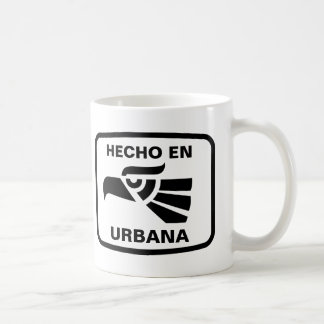 Hecho en Urbana  personalizado custom personalised Basic White Mug