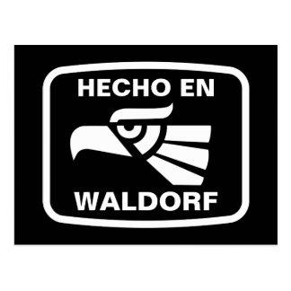 Hecho en Waldorf personalizado custom personalized Post Card