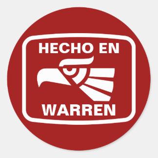 Hecho en Warren  personalizado custom personalized Sticker