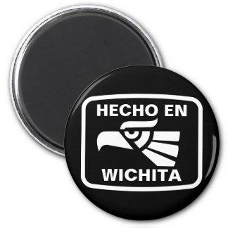 Hecho en Wichita personalizado custom personalized 6 Cm Round Magnet