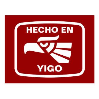 Hecho en Yigo  personalizado custom personalised Postcard
