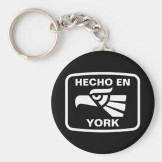 Hecho en York  personalizado custom personalized Keychain