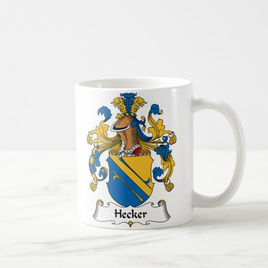 Hecker Family Crest Coffee Mug