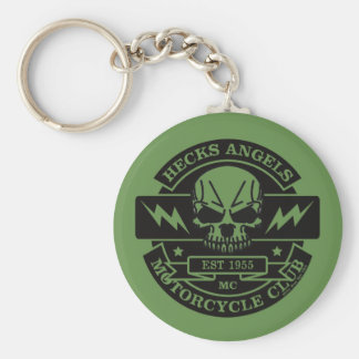 HECKS ANGELS_black Key Ring