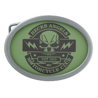 HECKS ANGELS_black Oval Belt Buckle