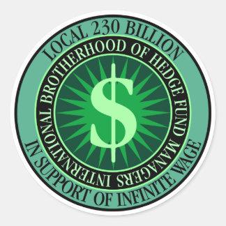 Hedge Fund Managers Union Round Sticker
