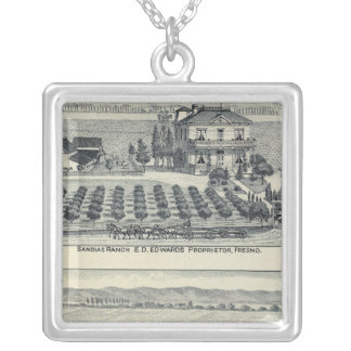 Hedge Row Vineyard, Fresno Silver Plated Necklace