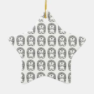 Hedge the hedgehog christmas ornament