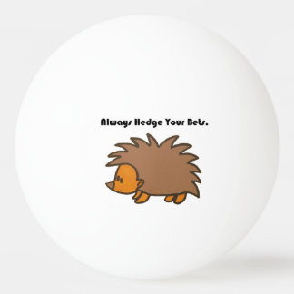 Hedge Your Bets Hedgehog Cartoon Drawing: Ping Pong Ball