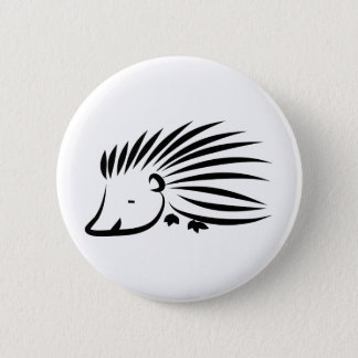Hedgehog 6 Cm Round Badge