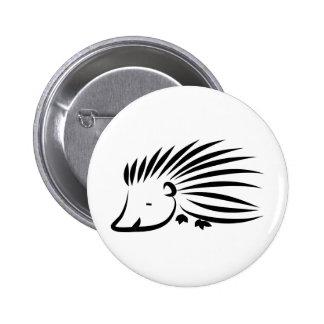 Hedgehog 6 Cm Round Badge