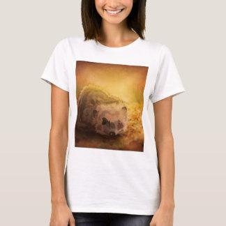 Hedgehog among autumn leaves T-Shirt