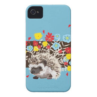 hedgehog and  flowers iPhone 4 covers