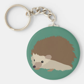 Hedgehog Basic Round Button Key Ring