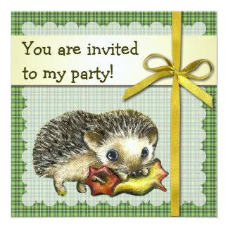 Hedgehog birthday invitation