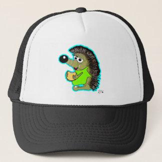hedgehog blue trucker hat