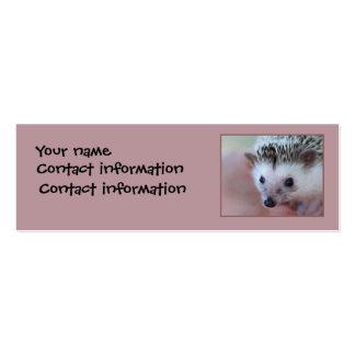 Hedgehog bookmark or profile card business card templates