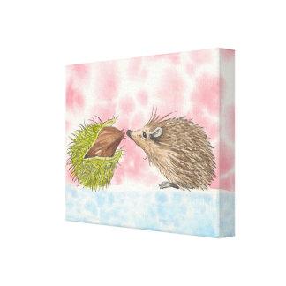 Hedgehog 'Brief Encounter' Canvas Print