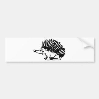 hedgehog bumper sticker