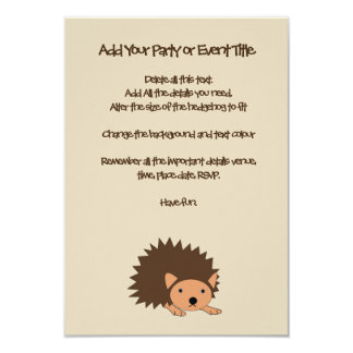 Hedgehog Children's Party or Baby Shower Invite