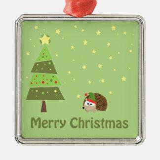 Hedgehog Christmas Scene Christmas Ornament