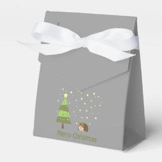 Hedgehog Christmas Scene Favour Box