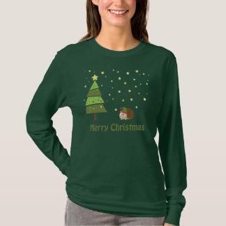 Hedgehog Christmas Scene T-Shirt