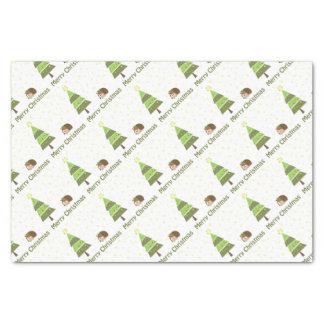 Hedgehog Christmas Scene Tissue Paper