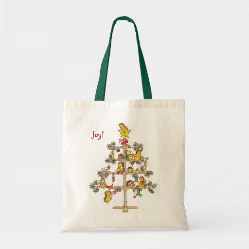 Hedgehog Christmas tree Canvas Bags