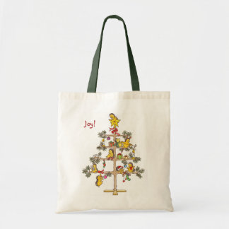 Hedgehog Christmas tree Budget Tote Bag