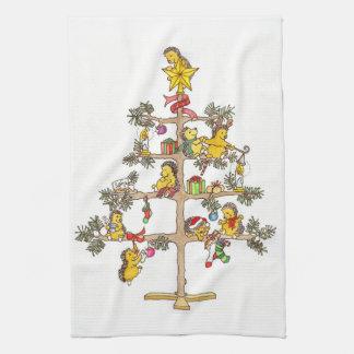 Hedgehog Christmas Tree Tea Towel