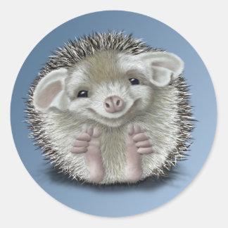 Hedgehog Classic Round Sticker