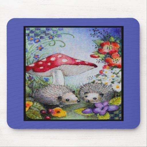 Hedgehog Couple Mouse Mat Mousepad