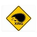 Hedgehog Crossing Highway Sign Post Cards