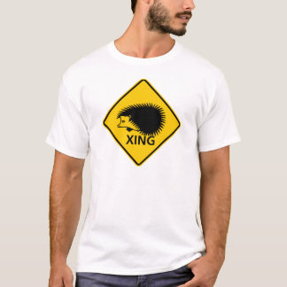 Hedgehog Crossing Highway Sign T-Shirt