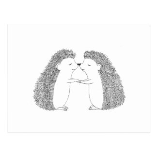 Hedgehog Cute I Love You Post Card