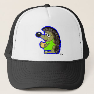 hedgehog dark blue trucker hat