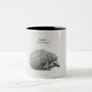 'Hedgehog Drawing' Two-Tone Coffee Mug