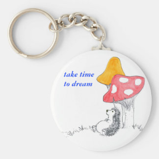 Hedgehog dreamer key ring