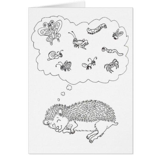 Hedgehog Dreams Card