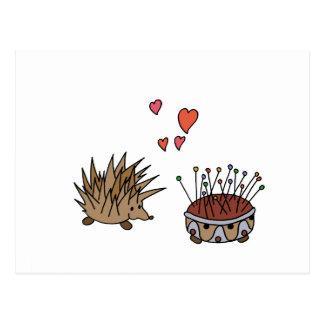 Hedgehog - erizo tarjeta postal