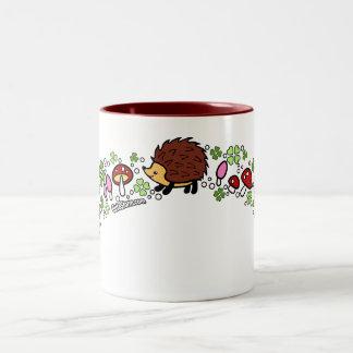 Hedgehog forest mug