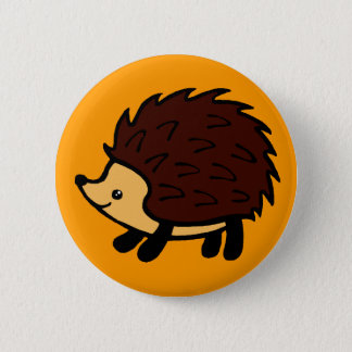 Hedgehog forest orange button