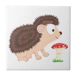 Hedgehog from my Forest series Tile