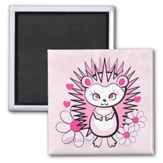 Hedgehog Girly Cute Pink Magnet