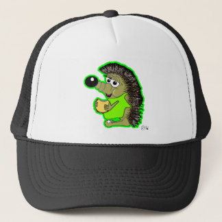 hedgehog green trucker hat