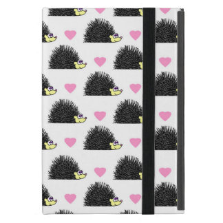 Hedgehog Heart Pattern White iPad Mini Case