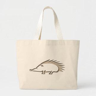 Hedgehog hedgehog large tote bag