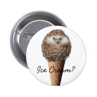 Hedgehog Ice Cream 6 Cm Round Badge